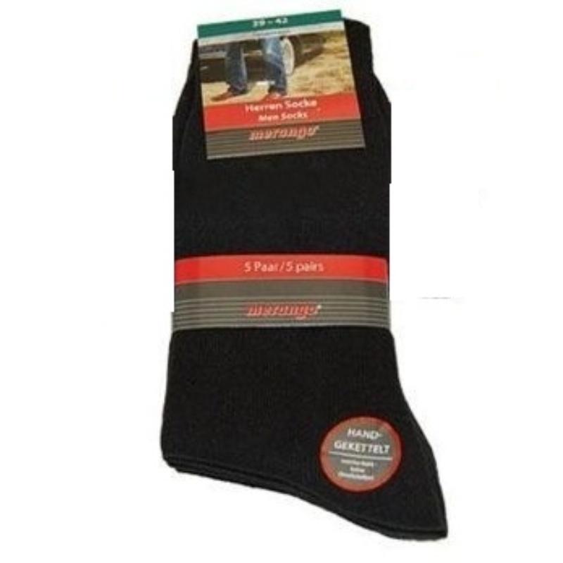 701289 - Pánské ponožky bez gumičky - černé 5er 39-42  626952f68d